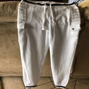 True Religion White Sweatpants